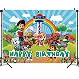Miotlsy Cumpleaños Decoración Fondo Fotografía Telón de Fondo Accesorios de Estudio Patrulla Canina Cumpleaños Fiesta Decoración