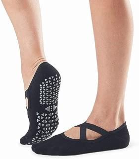 Tavi Noir Chloe Fashion Criss-Cross Grip Socks for Barre, Pilates and Yoga