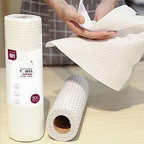 Wegwerp reinigingsdoekje 5 Roll reinigingsdoekje voor de WC, vaatdoek washandje handdoek, Keuken Bad doekjes