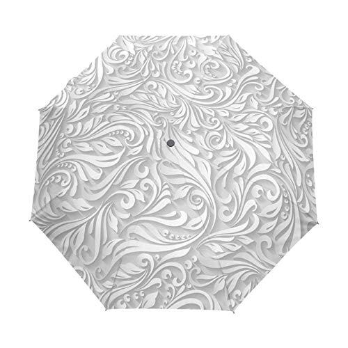 Badry Parapluie de Soleil imprimé en 3D entièrement Automatique 3 Parapluie Pliant Pluie Parapluie de Voyage en Plein air résistant aux UV - article5,1