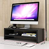 Monitor de madera Soporte de elevación para escritorio, escritorio Computadora Soporte Organizador Estante de almacenamiento, Monitor de escritorio Altura de soporte Ajustable, Estante de monitor Fáci