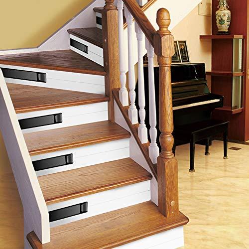 SQINAA Pegatinas 3D para escaleras, Autoadhesivas, extraíbles, Impermeables, para baldosas de escaleras, Pegatinas para escaleras, para Sala de Estar, Cocina,decoración del hogar (5 Piezas),A