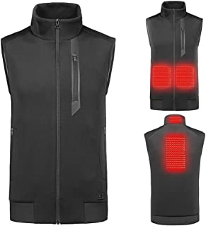 Heated Vest, Lightweight Fit Insulated USB Electric Heating Winter Vest, 4 Heating Pads 3-Gear Temp for Men And Women (Power Bank Not Included),XXL