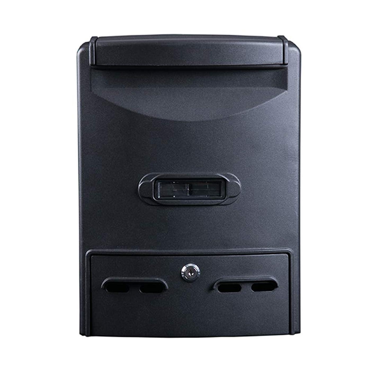 発火する活性化する要件RMJAI メールボックス ウォールマウントデザインメタルメールボックス/レターボックスウィンドウパターン、ブラック