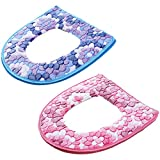 Evealyn Toilet Seat Covers Cushion Bathroom Warm Skin-Friendly Four Seasons Available Zipper Easy