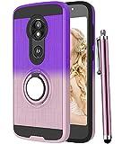 CAIYUNL Moto E5 Play Case,Moto E5 Cruise Case with 360 Degree Rotating Ring Holder Kickstand Rugged Shockproof Hybrid Protective Phone Hard Cover Women Girls for Motorola Moto E5 Play-Purple/Rose Gold