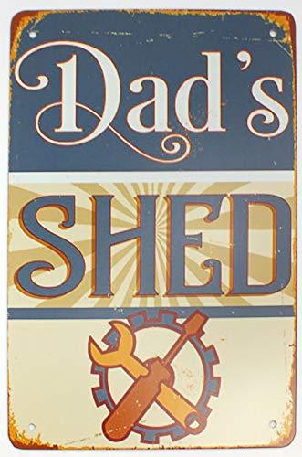 Tin Metal Sign Plaque Bar Pub Vintage Retro Wall Decor Poster Home Club Tavern Wall Door (30 x 20 cm) - UK Company (407 - Dads Shed)