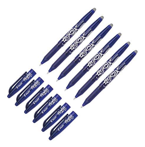 Pilot Blue Frixion BL-FR7 - Penna a sfera cancellabile, punta 0,7 mm, tratto 0,35 mm, confezione da 6