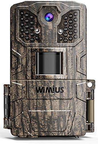 WiMiUS Trail Game Camera, 【2021 Upgraded】 16MP 1080P HD Game Hunting Scouting Cam with Latest 940nm No Glow Infrared Night Vision Waterproof Motion Activated, for Wildlife Deer Monitoring