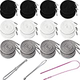 24 Pieces 59 Inch Replacement Drawstring Cords Multicolor Universal Drawstring Replacement Clothing Drawstring 3 Pieces Flexible Drawstring Threaders Easy Threader Needle for Sweatpants Shorts Hoodies