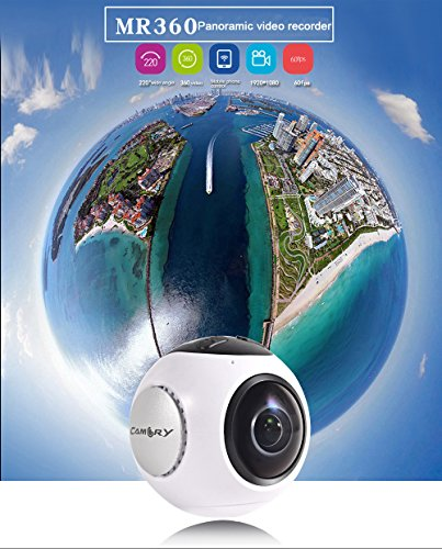 LesunDa DYL-MR360 DV APP WiFi Support 220360 360 Degree Panoramic Camera 4K 24fps Sports Action Camera Cam with Tripod Power Supply
