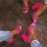 N\C Sandalias de Mujer Sandalias Transparentes de Mujer Zapatillas de tacón...