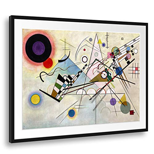 Printed Paintings Passepartout (100x70cm): Wassily Kandinsky - Komposition 8 (1923)