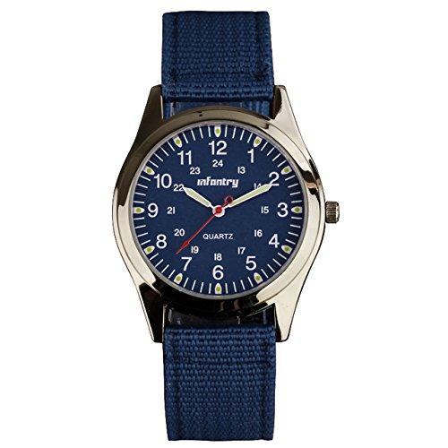 Infantry IN-018-BLU-N - Reloj para Hombres, Correa de Nailon Color Azul