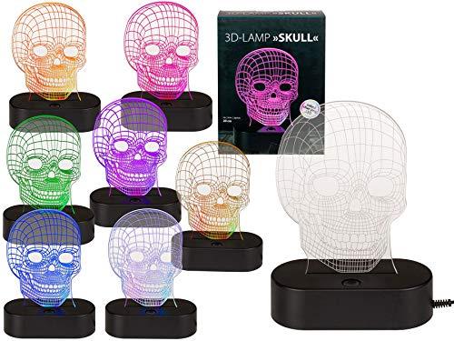 Ideal Trend LED Stimmungslicht 3D Lampe Leuchte Nachtlicht Alien Weltkugel Schaedel: Farbe: Totenkopf