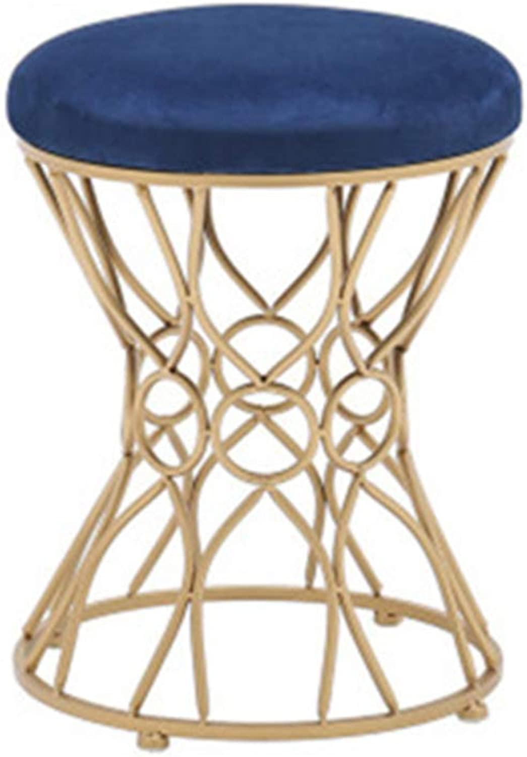 Stool Nordic Stool Home Fabric shoes Bench Makeup Round Stool Bedroom Living Room,D,35  45CM