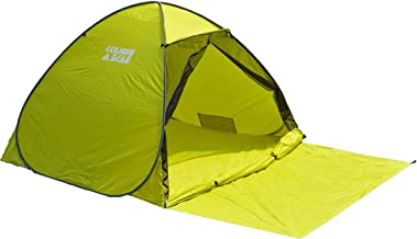 Tansu no Gen ENDLESS BASE Pop Up Tent, Width 78.7 inches (200 cm), For 2-3 People, Full Close, Over 95% of UV Protection, Double-Sided Mesh, Water Resistant, One-Touch Storage, Lime Yellow, AM 00090 22 [68582]