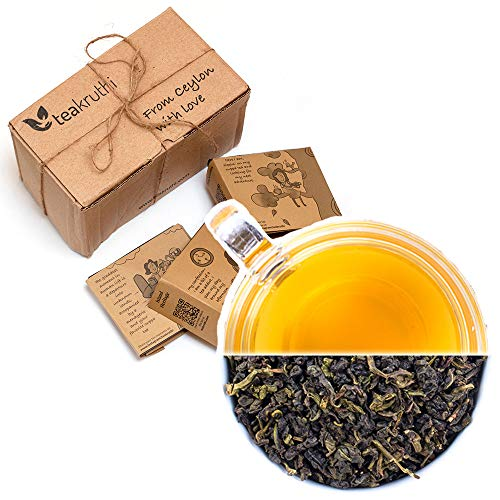 teakruthi - 100% All Natural Pure Ceylon Tea - Slimming Oolong Tea - Loose Leaf Tea - Metabolism Booster - Powerful Anti-OXIDANTS - Brew Hot Tea or Kombucha Tea