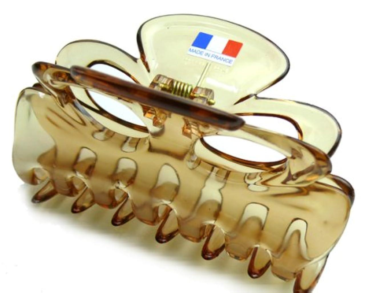季節意志億フランスクリップ 薄茶