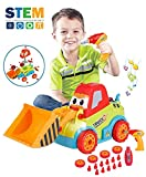 LUKAT Toys for 3 Year Old Boys, Take Apart Toys Truck Toddler DIY Assembly Construction Bulldozer...