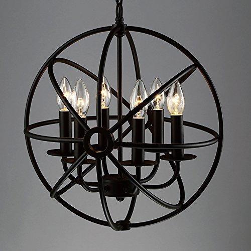 YLCJ industriële kooi van smeedijzeren hangstoel industriële 6-8-light E14 hanglamp hanglamp plafondlamp barn Warehouse garage bar spinnen