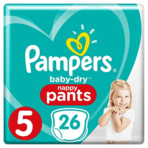 Pampers Baby-Dry Pants - Pañales (talla 5, 26 unidades)