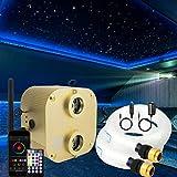 azimom 2020upgraded bluetooth 20w twinkle fiber optic lights star ceiling lighting kits mixed