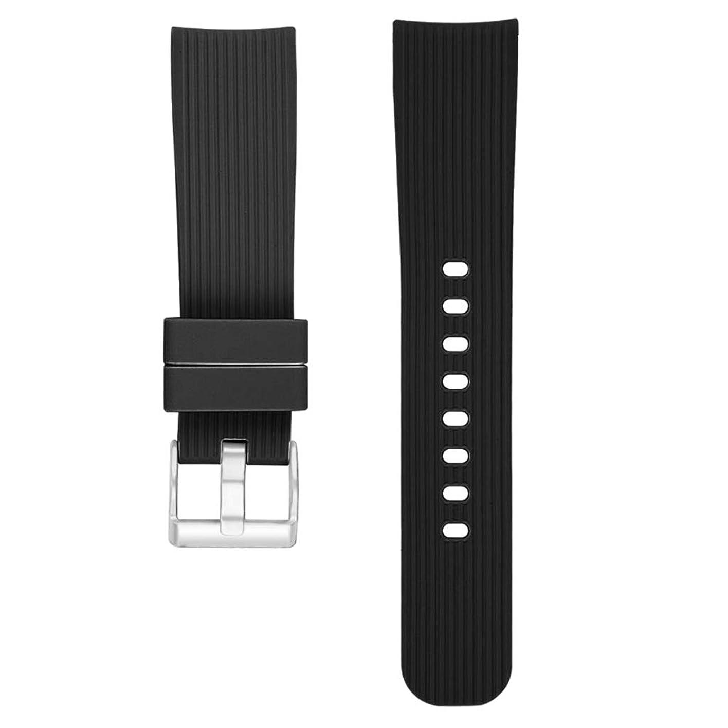 類似性音声学納税者D DOLITY ウォッチバンド 交換ストラップ 通気性 42mm Samsung Galaxy Watchに対応 - ブラック
