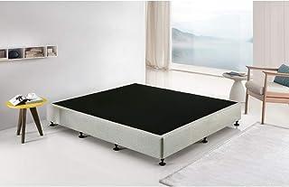 Palermo King Ensemble Frame Bed Base - Linen Fabric - Platinum Light Grey - Premium Linen Fabric Upholstered Bed Base
