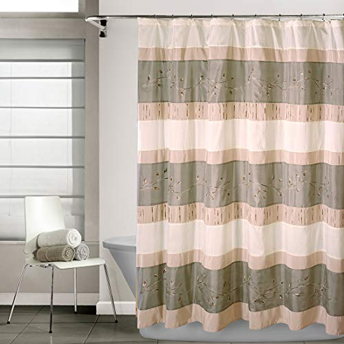 """EXCELL Home Fashions Wasabi Fabric Superior Quality Quick Dry Shower Curtain for Master, Kid's, Guest Bathroom, 70"""" x 72"""", Sage"""