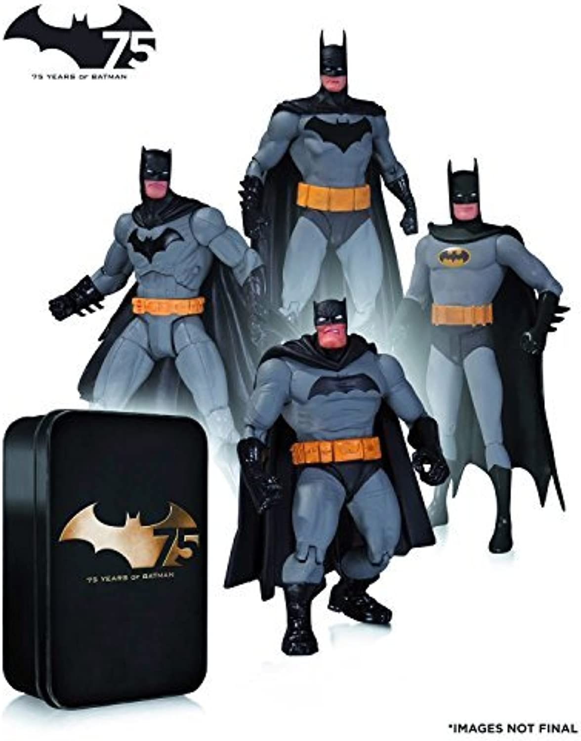 Batman   75th Anniversary Action Figure 4PK set 2 by DC Collectible