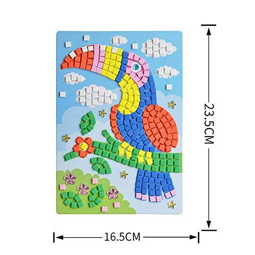 GlISR Crystal Pegatinas Enseñanza Kinder, Manual de Bricolaje Early Learning Educación Bebés y Niños Juguetes Montessori Ayudas de enseñanza de matemáticas Juguetes (Color : 1)