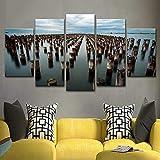 Xzfddn arte decoración del hogar marco lienzo pintura cartel para sala de estar...