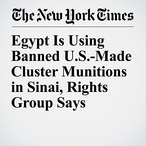 Egypt Is Using Banned U.S.-Made Cluster Munitions in Sinai, Rights Group Says copertina