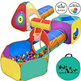 Gift for Toddler Boys & Girls, Ball Pit, Play Tent and Tunnels for Kids, Best Birthday Gift for 1 2...