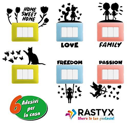 RASTYX Adhesivos murales infantiles Wall Stickers pared Stencil letras interruptores decoración dormitorio...