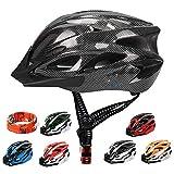 ioutdoor Erwachsene Fahrradhelm CE EN1078, EPS-Körper + PC-Schale, Robust und Ultraleicht, mit Abnehmbarem Visier und Polsterung, mit freiem Stirnband, Verstellbar Radhelm(56-64cm)