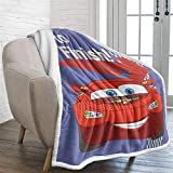 Cars Blanket for Boys Kids Lightning McQueen Sherpa Fleece Blanket Twin Size Fuzzy Flannel Blanket for All Seasons Soft Fleece Plush Sofa Couch Blanket TV Bed Blanket to Kids 60'x 80'