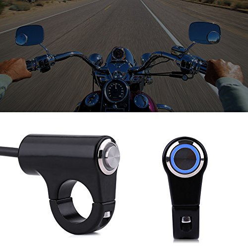 Interruptor de manillar de motocicleta, 22 mm, aleación de aluminio de motocicleta, interruptor de botón de manillar modificado, botón de interruptor de faro (B)