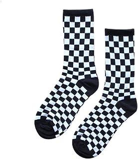SHYPT, SHYPT 10 Pares de Calcetines Cuadrados Blancos y Negros Calcetines de un Solo Tubo Estilo algodón de otoño e Invierno para Hombres (Color : Style 2)