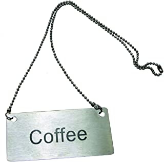 Update International CS-CFE Stainless Steel Beverage Chain Sign, Coffee, Stainless Steel