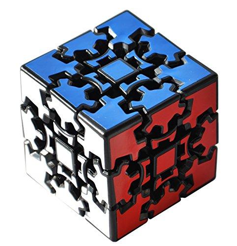 Maomaoyu Gear Cube 3X3 3x3x3 3D Gear Cubo Shift Velocidad Puzzle Cubo Magico Negro