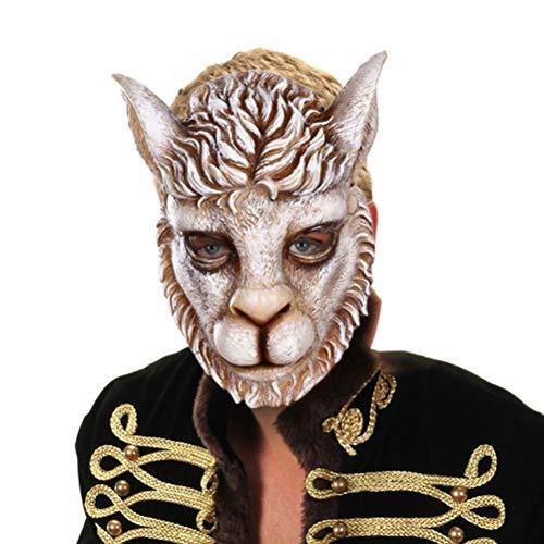 Smosyo Mscara Facial de len Mscara de Halloween de len Mscara de Oreja para la Fiesta de Carnaval de Pascua para la Mascarada Disfraz de Halloween Mscara de Fiesta de Cosplay