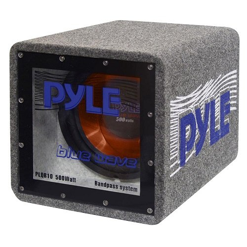 Pyle PLQB10 subwoofers para coche Altavoz de subgraves (subwoofer) con caja acústica - Subwoofer para coche (Altavoz de subgraves (subwoofer) con caja acústica, 30 - 700000 Hz, 500 W, 4 Ω, 25,4 cm (10'), Bandpass)