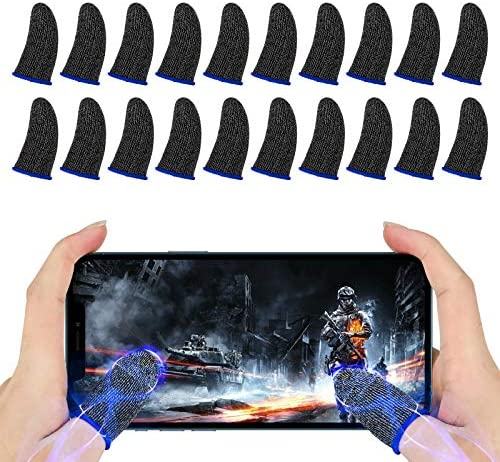 Newseego Finger Sleeve Sets for Gaming Mobile Game Controller Thumb Sleeves 20 Pack Anti Sweat product image