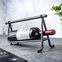 Loaoホームデコレーションワインラックメタルワインホルダー、自立ホームオフィスバーレストランワインシェルフギフト
