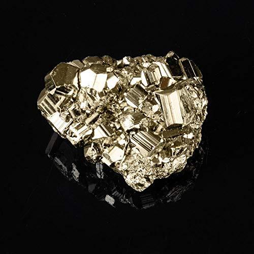 BHP Piedra Natural y minerales Pirita Cristal de Pepita Pirita Cristales de curación Irregulares Muestras Decoración para el hogar 1PC Cristal de pirita en Bruto # 21,10-30g