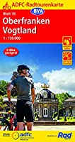 ADFC-Radtourenkarte 18 Oberfranken /Vogtland 1:150.000, reiss- und wetterfest, GPS-Tracks Download und Online-Begleitheft