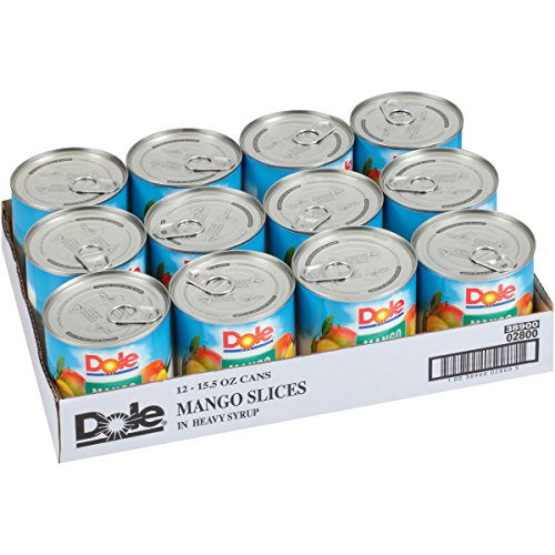 Dole Mango Slices in Heavy Syrup, 15.5 Ounce Can (Pack of 12)