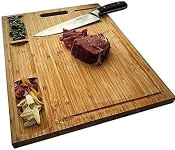 Allsum Large Bamboo Kitchen Cutting Board